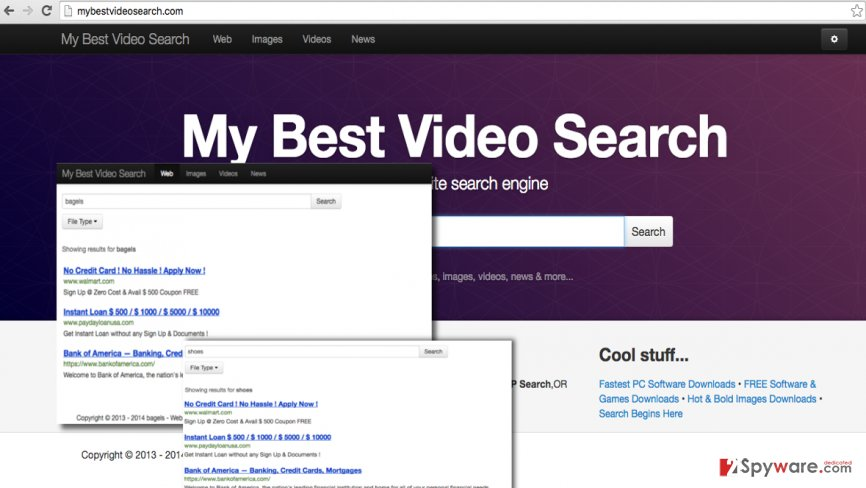 Mybestvideosearch.com redirects can open highly dangerous websites