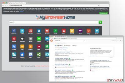 Screenshot of MyBrowserHome.com