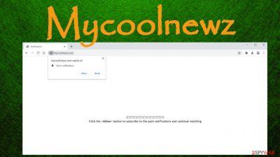 Mycoolnewz.com pop-up