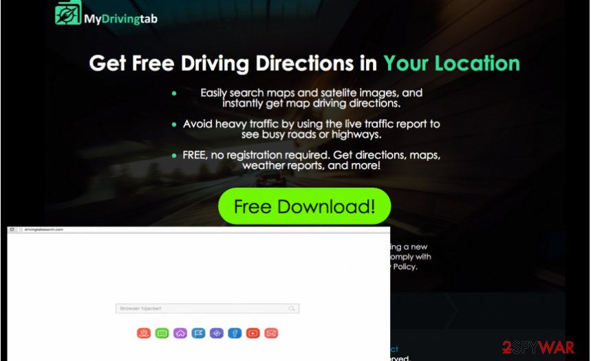 MyDrivingTab redirect virus