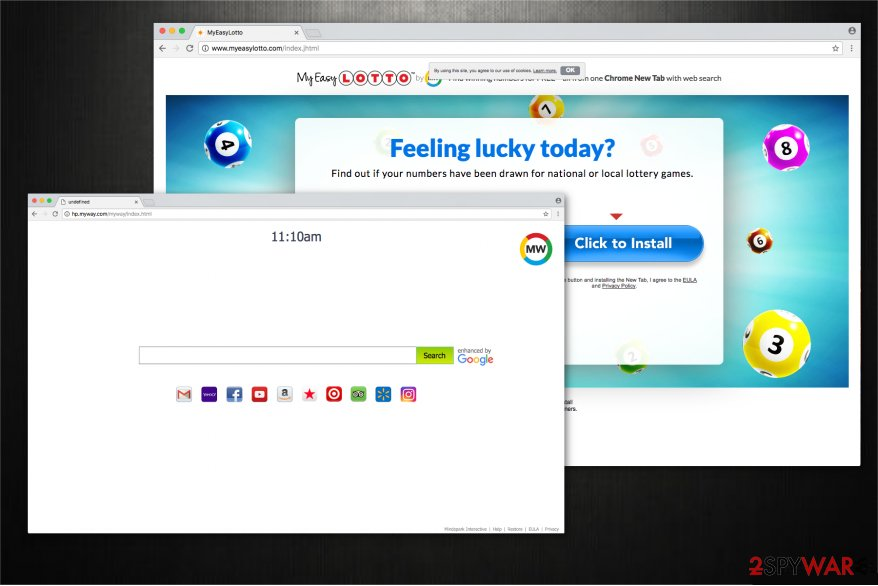 MyEasyLotto toolbar is an unreliable browser extension