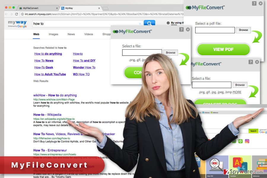 The illustration of MyFileConvert virus