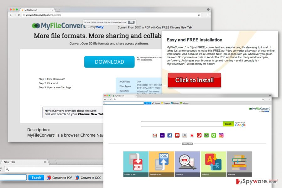The image of MyFileConvert Toolbar