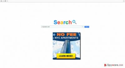 The picture showing Myinfosearch.biz virus