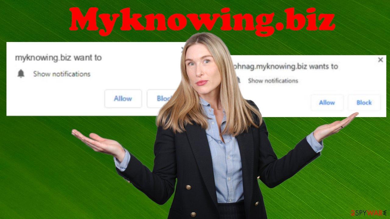 Myknowing.biz ads