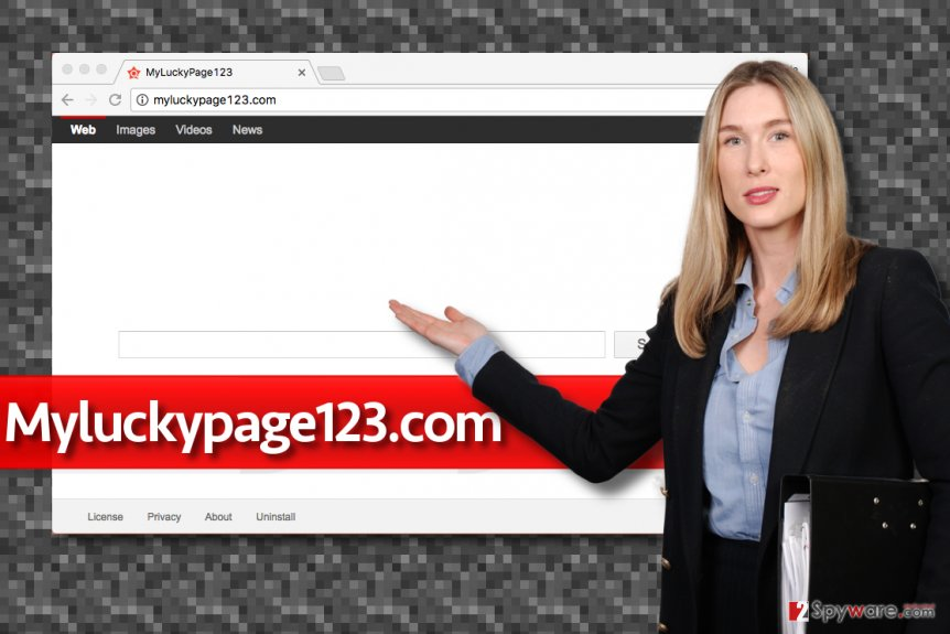 Fake Myluckypage123.com search engine