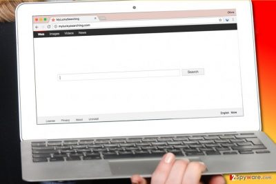 MyLuckySearching.com virus in computer