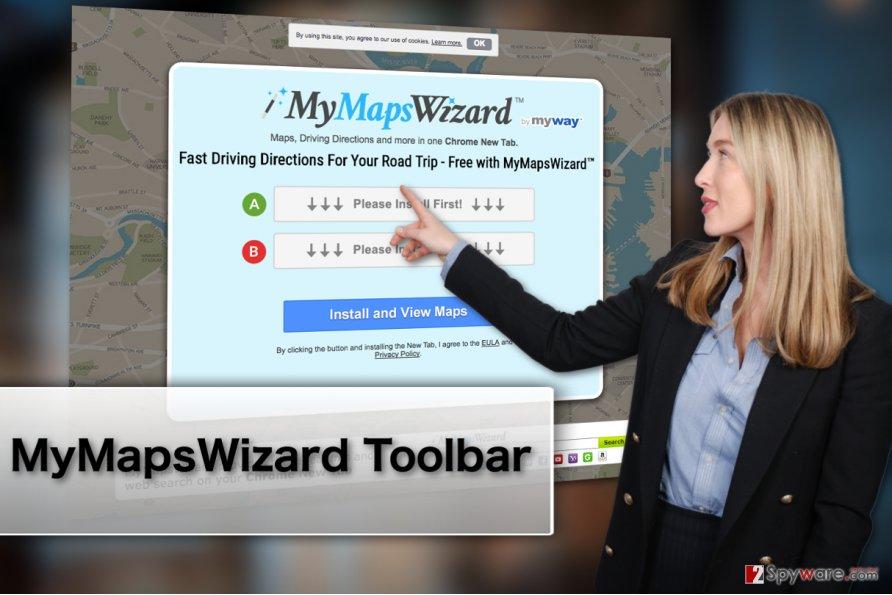 MyMapsWizard Toolbar virus illustration