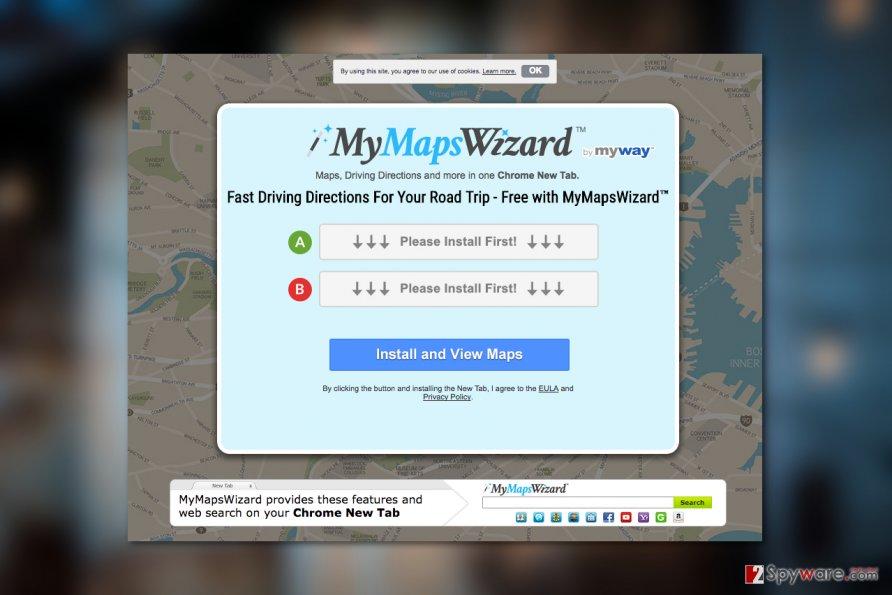 MyMapsWizard Toolbar virus