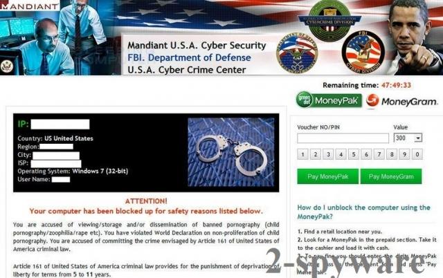 Mynetcop.net virus snapshot