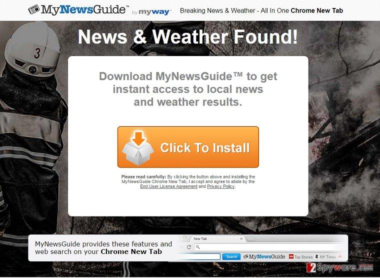 MyNewsGuide Toolbar app