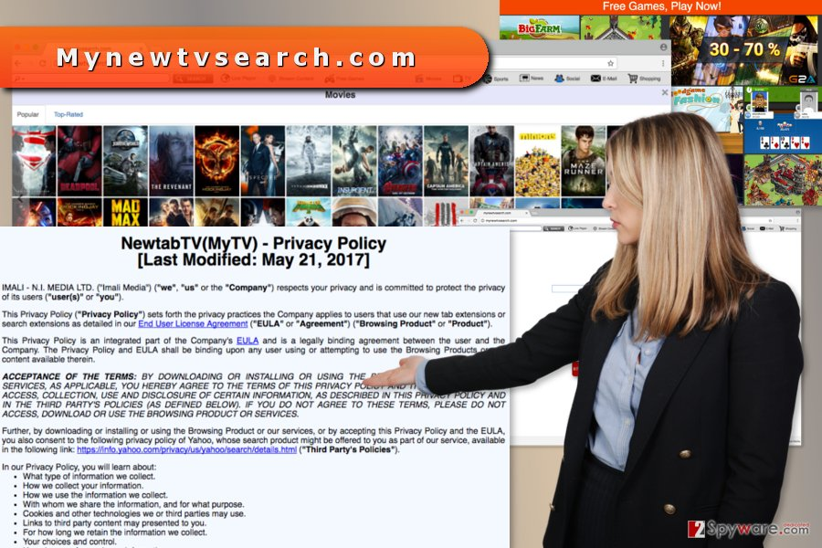 The picture of Mynewtvsearch.com virus