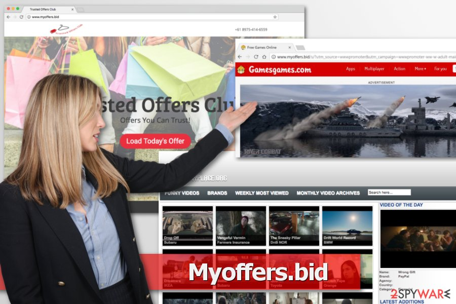 Example of Myoffers.bid redirect issue