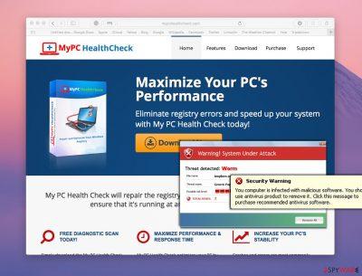 Screenshot of MyPC HealthCheck