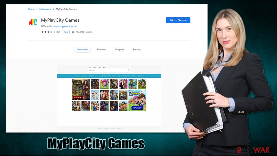 MyPlayCity Games hijack