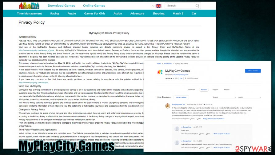 MyPlayCity Games virus