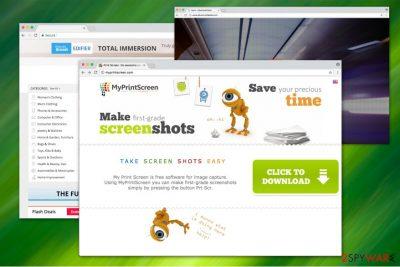 The image of MyPrintScreen website