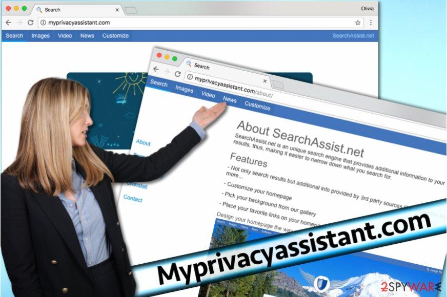 Myprivacyassistant.com hijacker