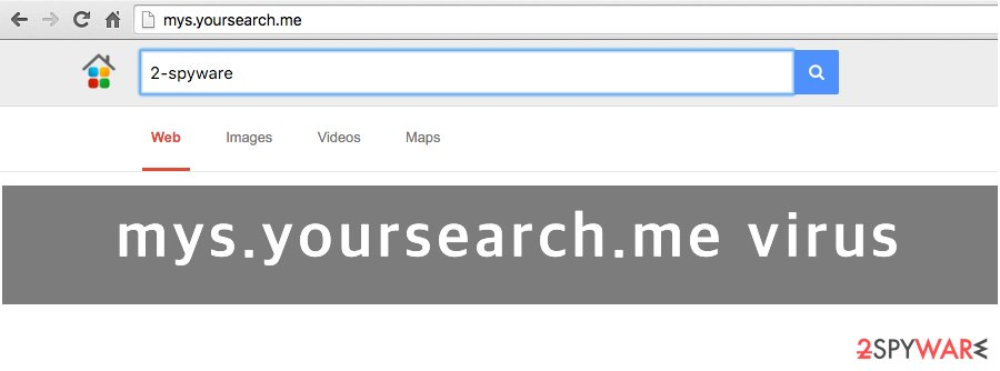 Mys.yoursearch.me website screenshot