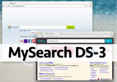 MySearch DS-3 redirect virus controls web browser