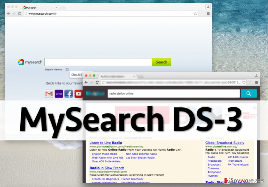 MySearch DS-3 virus affects web browser