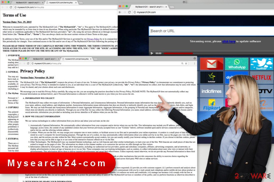 The image of Mysearch24.com virus