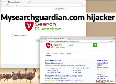 Image showing Mysearchguardian.com hijack