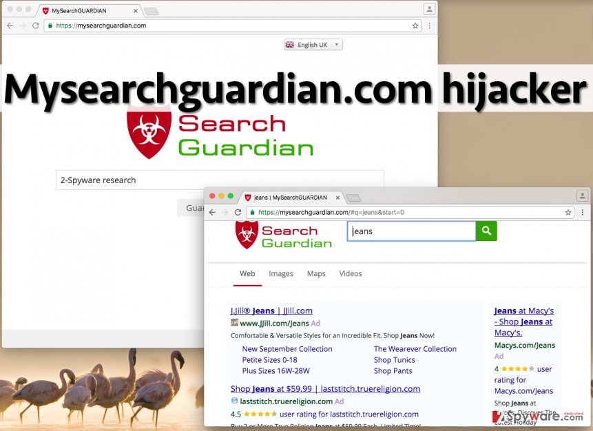 Image showing  Mysearchguardian.com browser hijacker in Chrome