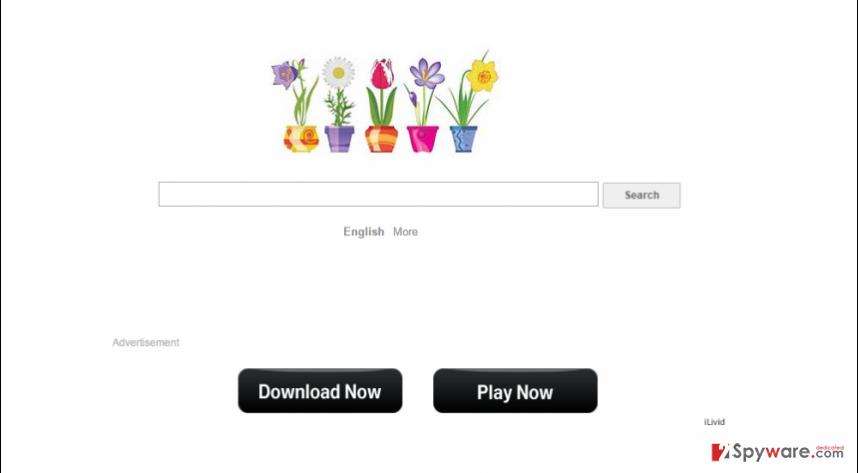 MySearchPage.net virus snapshot