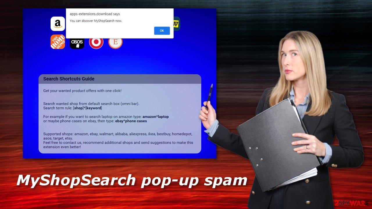MyShopSearch pop-up spam