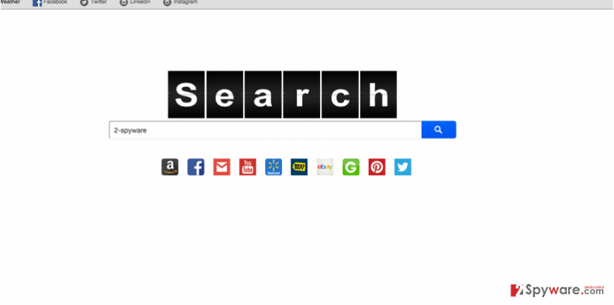 The main page of Search.mysocialhubxp.com browser hijacker