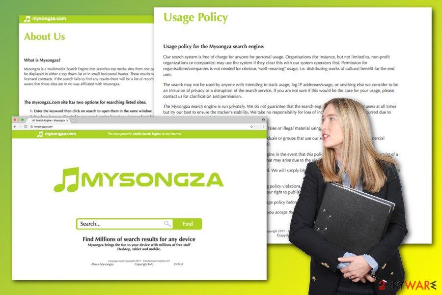Mysongza.com virus