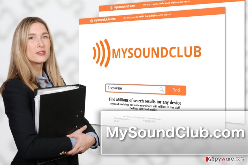Image of MySoundClub.com browser hijacker