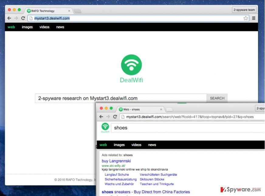 Mystart3.dealwifi.com browser hijacker