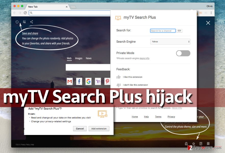 Image of myTv Search Plus virus