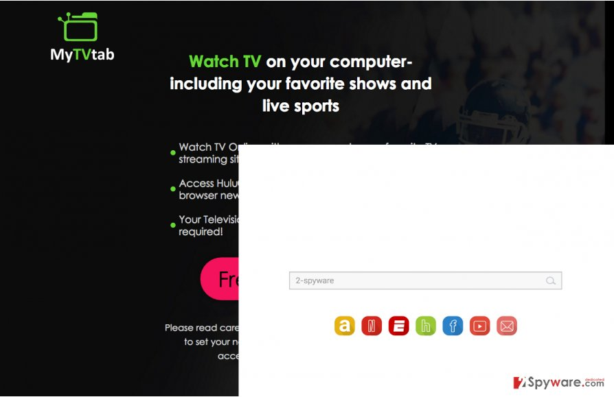 An illustration of the Tvtabsearch.com virus