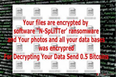 The image of N-SpLiTTer ransomware virus