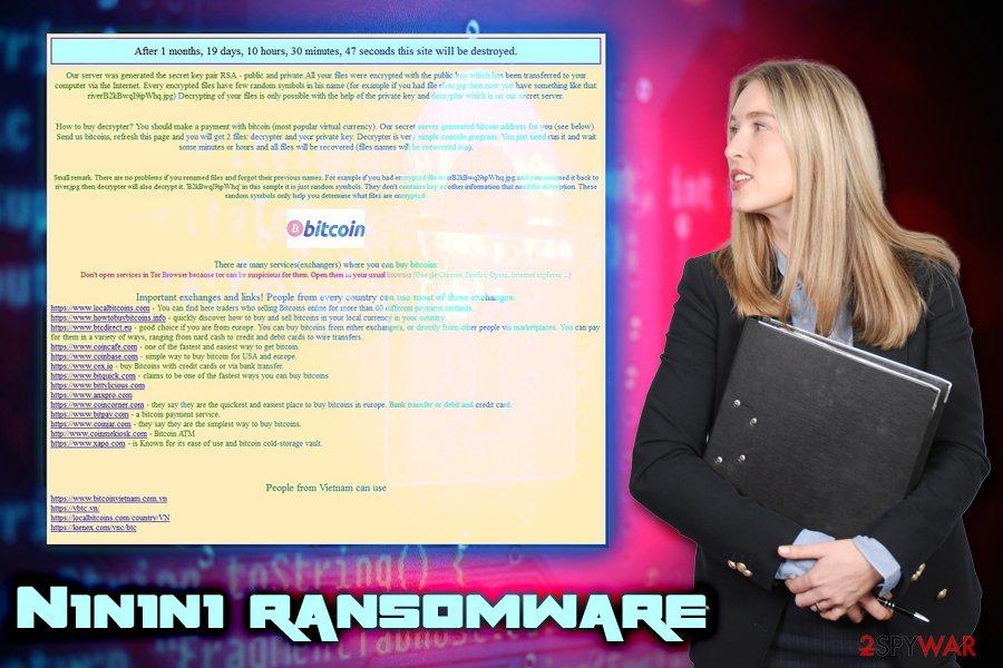 N1n1n1 ransomware virus