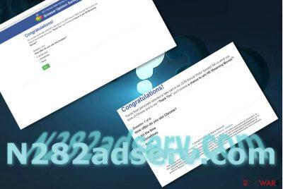 The image of N282adserv.com virus