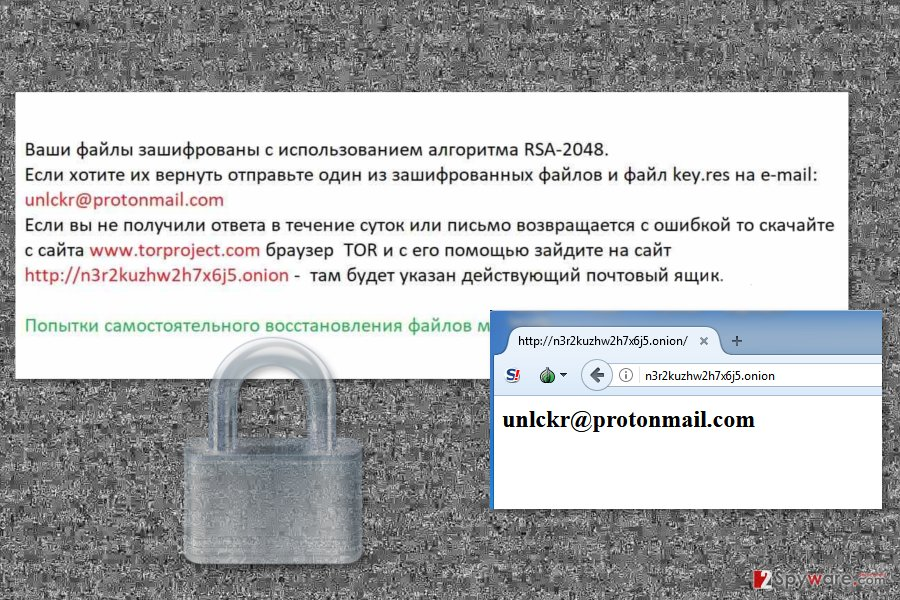 Picture of Naampa ransomware