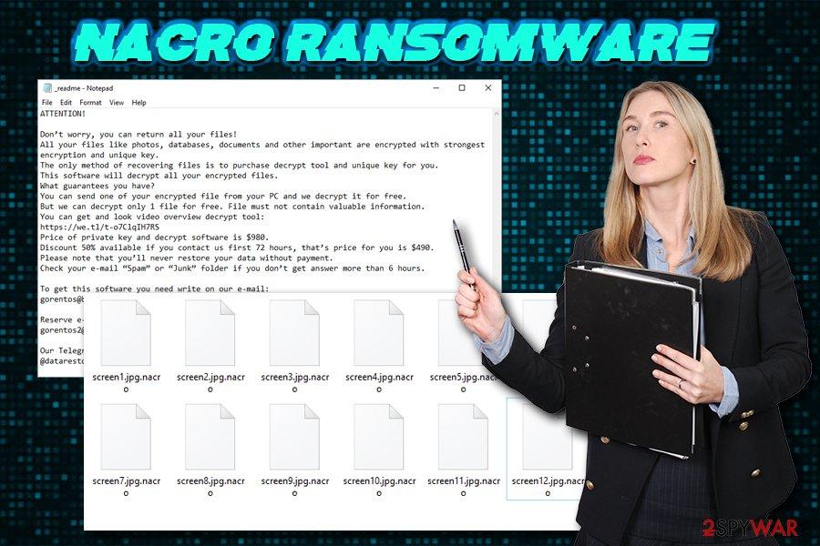 Nacro ransomware virus