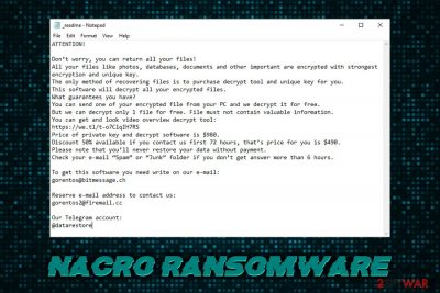 Nacro ransomware