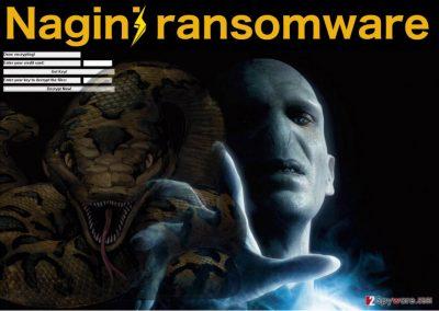 Illustration of the Nagini ransomwre ransom note