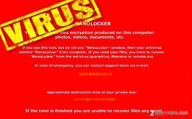 NanoLocker malware attack leaves a threatening message