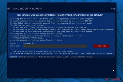 NATIONAL SECURITY BUREAU ransomware image