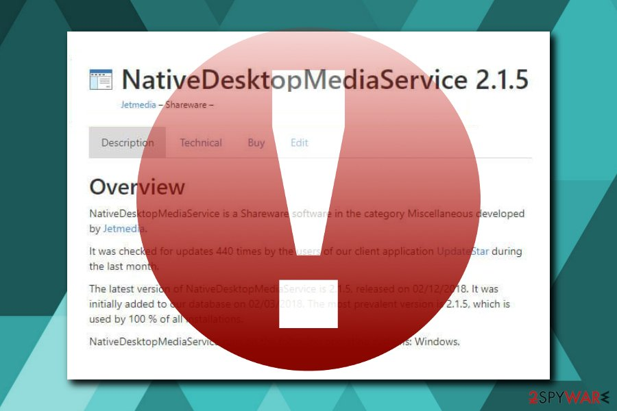 NativeDesktopMediaService virus