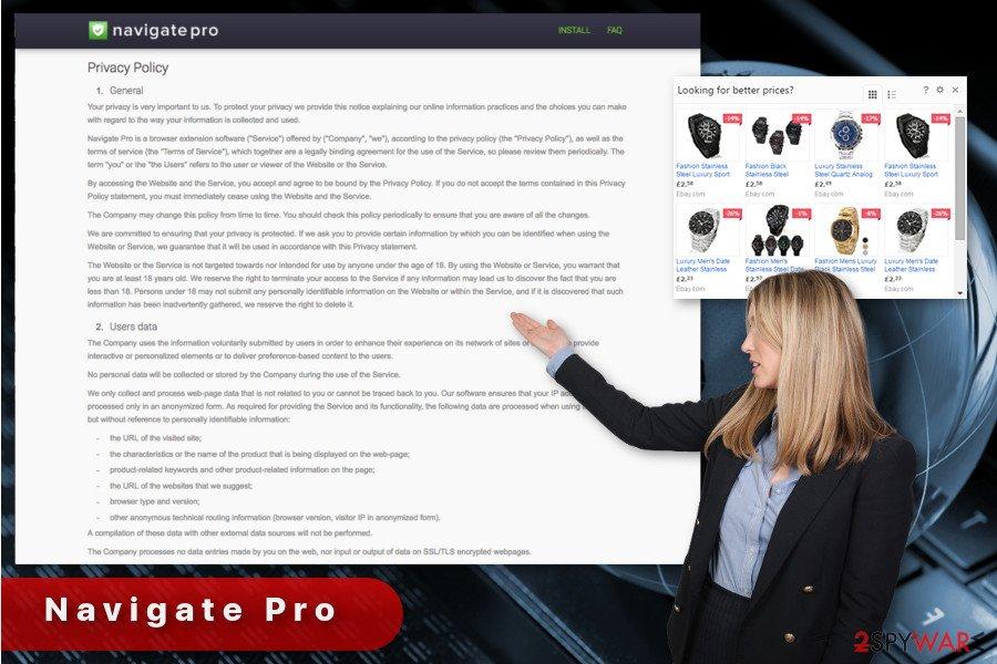 The illustration of Navigate Pro virus