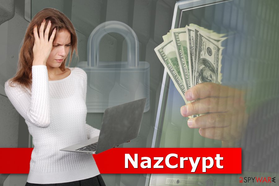 Picture of NazCrypt ransomware virus
