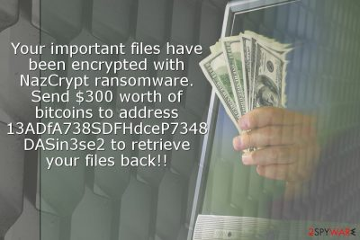 Image of NazCrypt ransomware