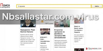 Nbsallastar.com virus screenshot
